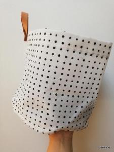 Ikea shoplog - Opberg mand / waszak stippen