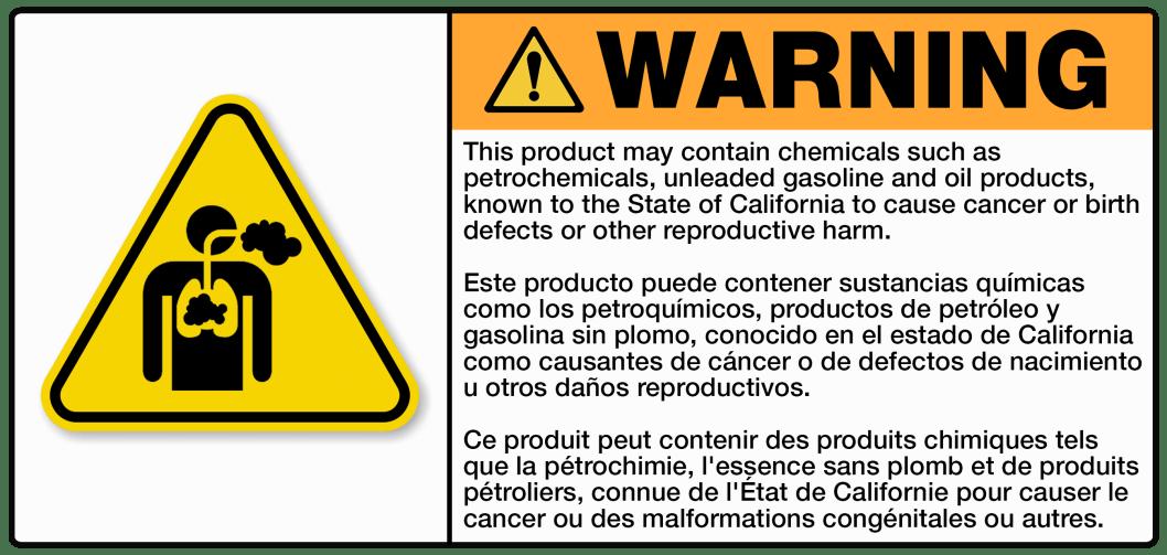 CA Prop 65 Label