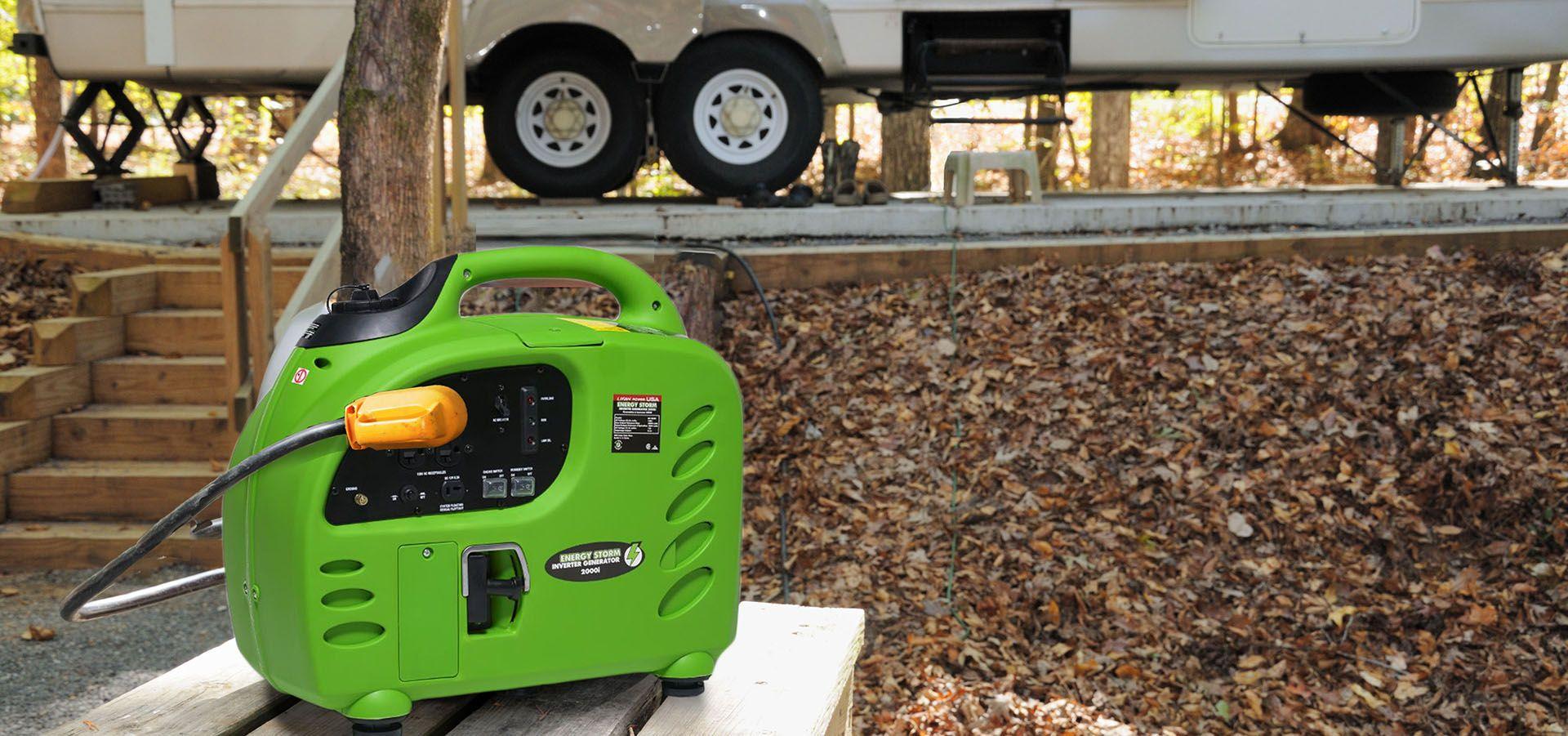 Portable generator with rv trailer