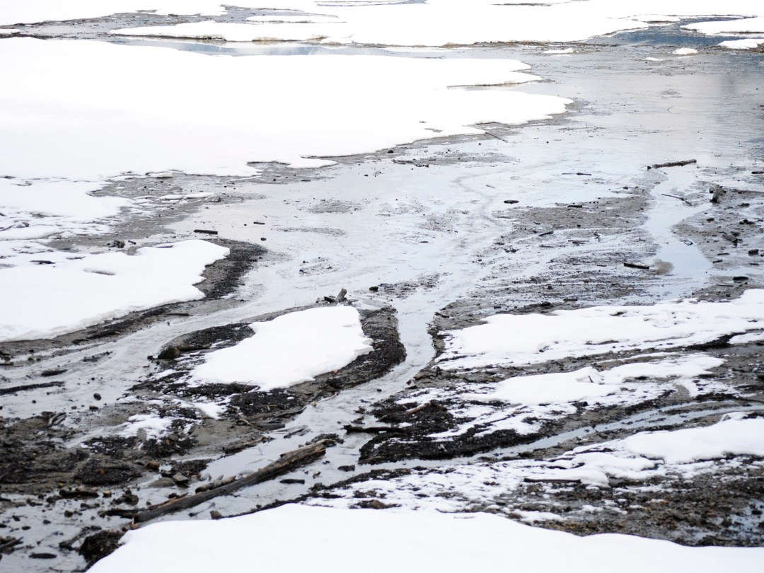 Hot Spring Channels in Ice