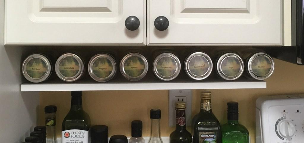 Horizonal Herb Shelf