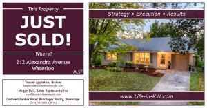 Just Sold! 212 Alexandra Avenue in Westmount (Waterloo)