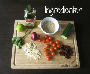ingredienten quinoasalade
