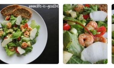 scampi salade groene appel