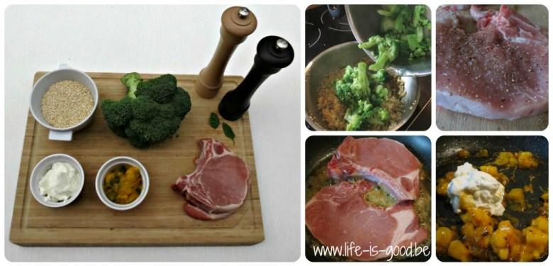 quinoa broccoli salade pickles