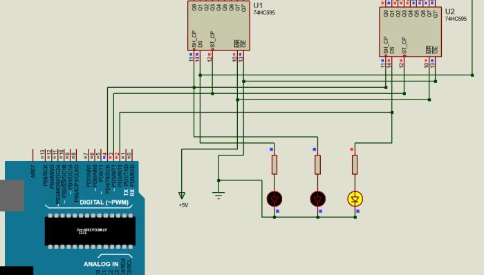 Shift Register – Binary Counter using 74HC595 IC - Life2Coding