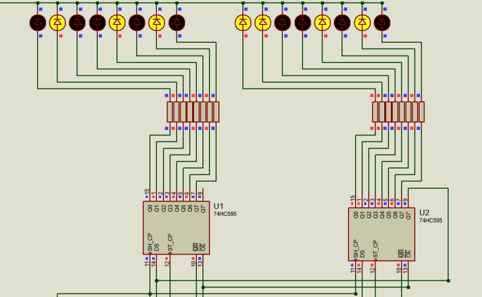 how to use 595 shift register