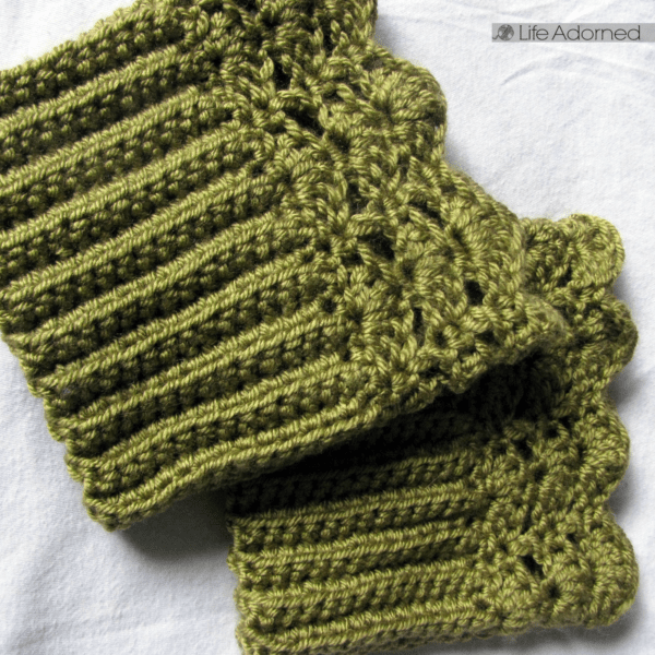 Free Crochet Pattern Belmont Boot Toppers Life Adorned
