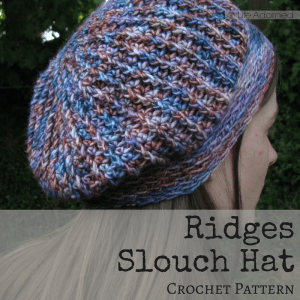 The Ridges Slouch Hat is crocheted using post stitches to create a ridged texture. Download the pattern for this relaxed-brim accessory.