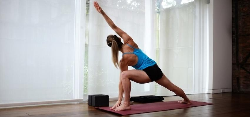 high-intensity workout and stretch