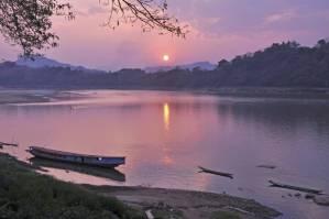 Sunset Mekong River, Thailand