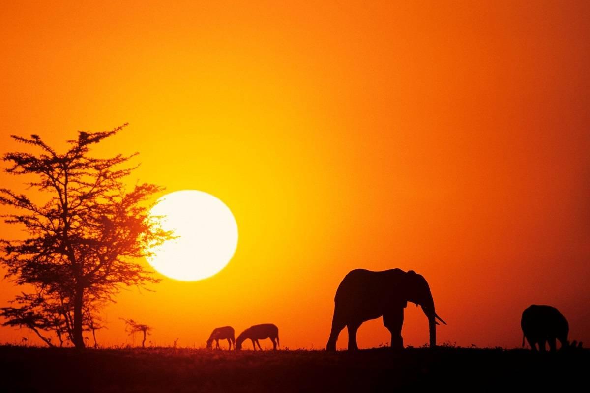 Sunsets Kenya, Africa