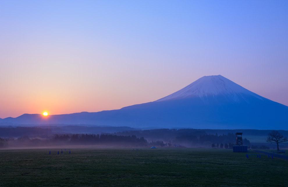Magnificent Sunsets Mount Fuji, Honshu Island, Japan
