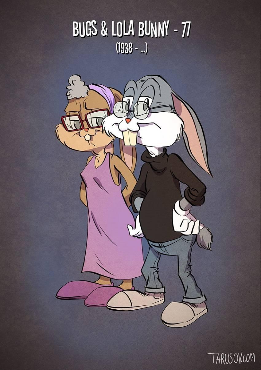 Buggs Bunny & Lola Bunny Famous Cartoon Characters