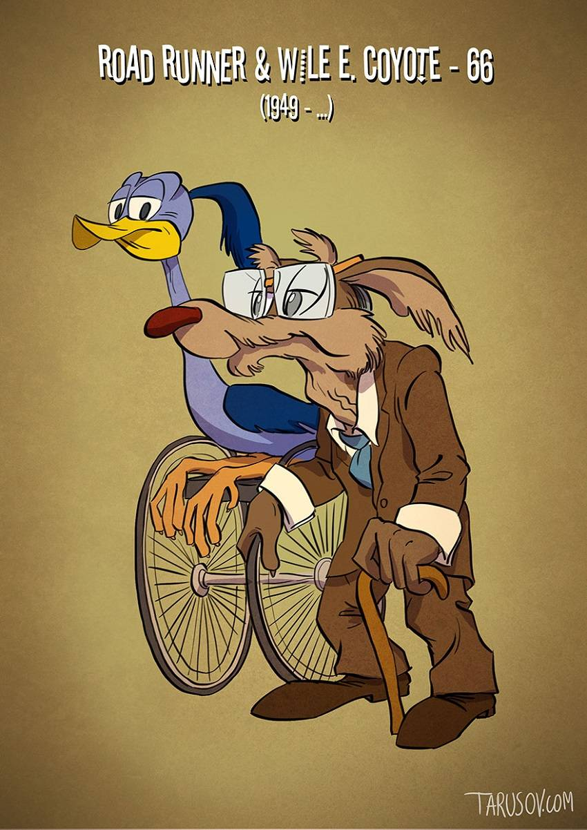 Road Runner and Wile E. Coyote Famous Cartoon Characters
