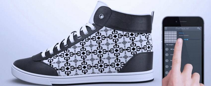 Futuristic Sneakers Display Custom Art