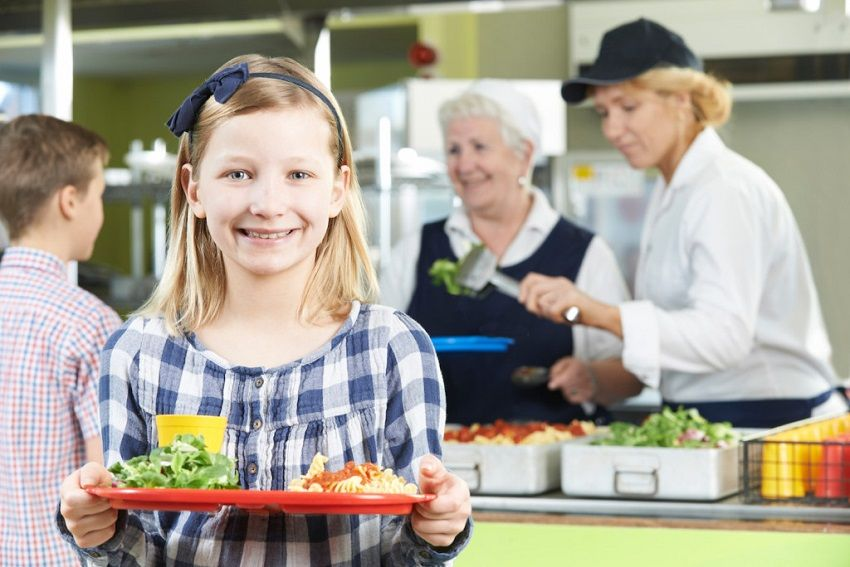 Kids Eat Healthy Lunch School