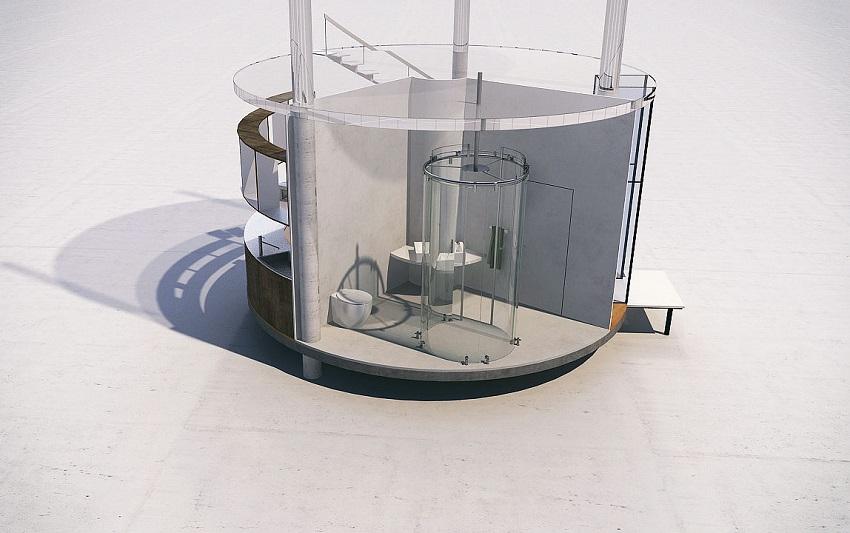 07-Cylindrical Glass House