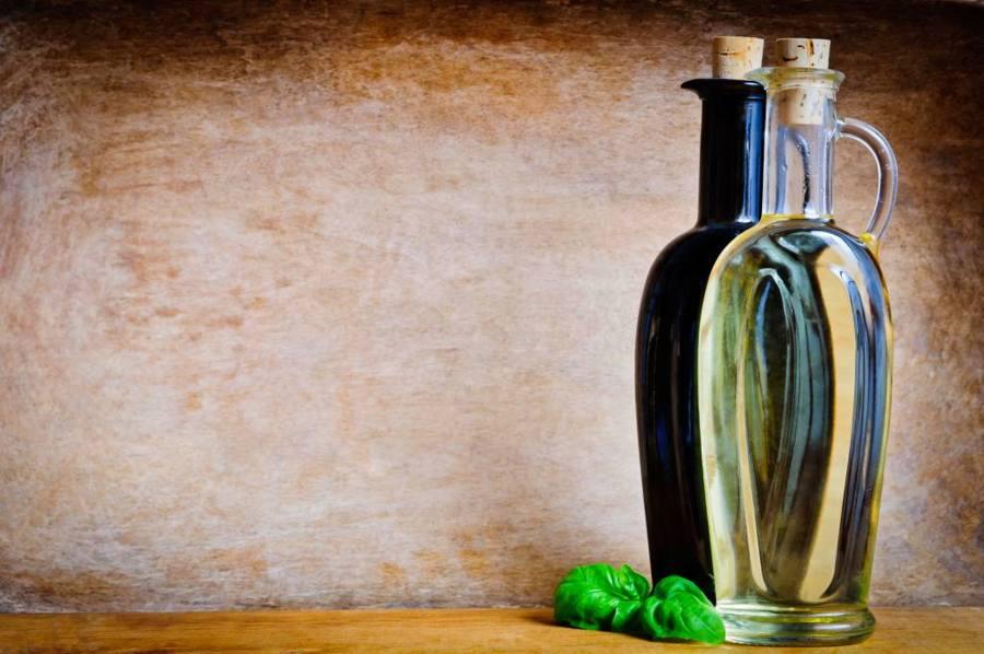 Bottle with vinegar