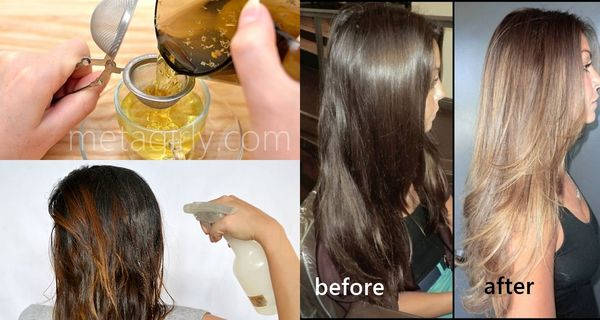 How To Lighten Your Hair Color With 100 Natural Ingredients