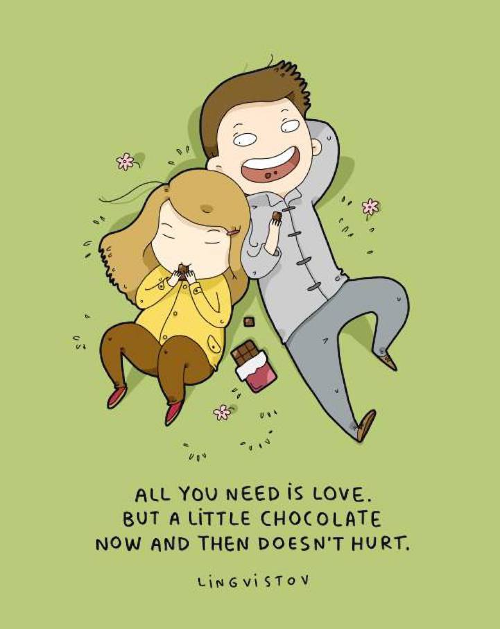 Illustrations that show why couples really love each other