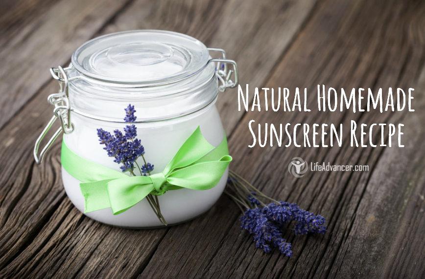 natural homemade sunscreen recipe