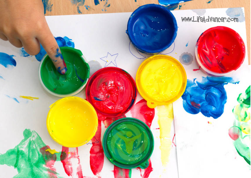 how to use finger painting to revoke your inner child and release