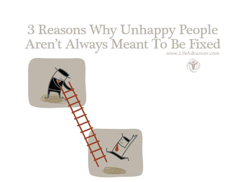 unhappy people