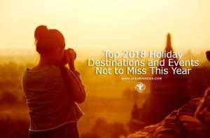 2018 Holiday Destinations