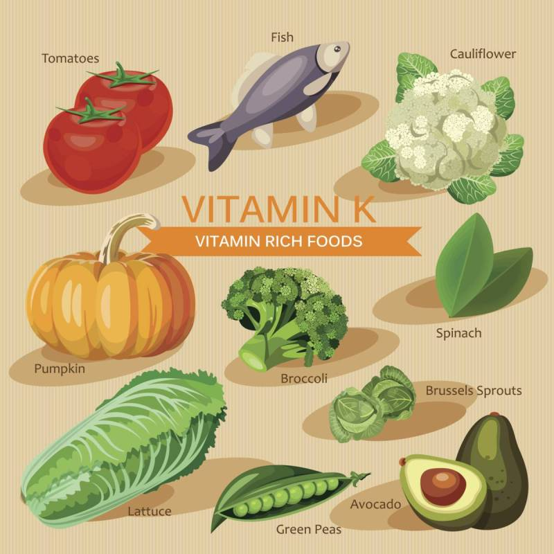 Foods And Fruits High In Vitamin K