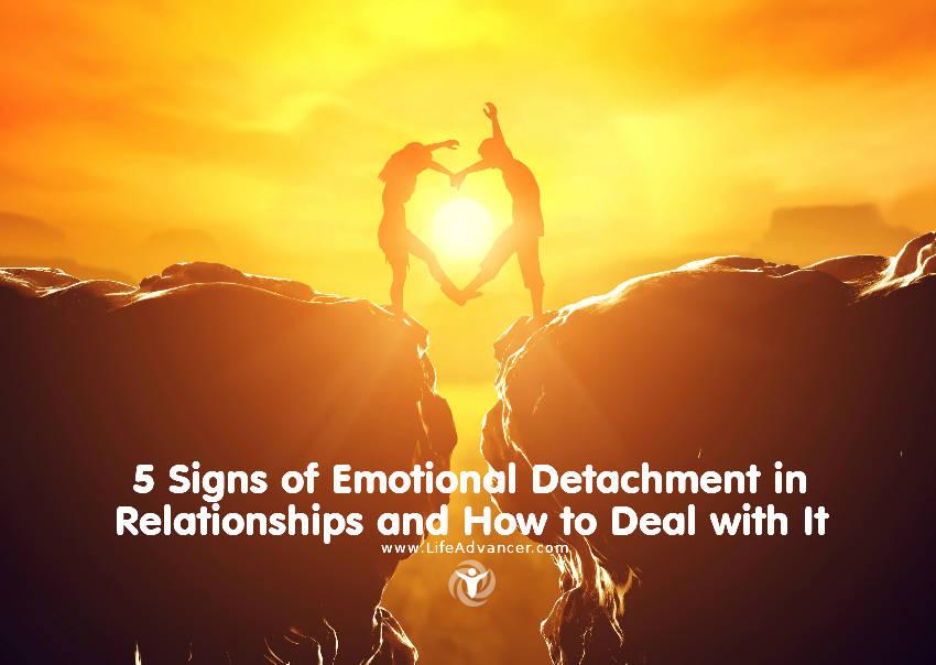 Emotional detachment relationships
