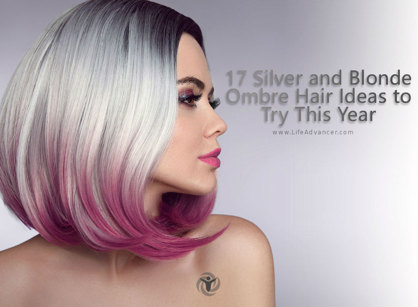 Silver and Blonde Ombre Hair Ideas