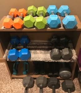 Free weights dumbbells