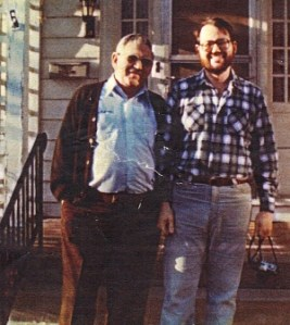 Photo of my dad and me, Bloomington, IN, 1982