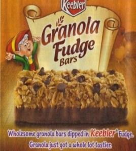 Fudge on granola bars