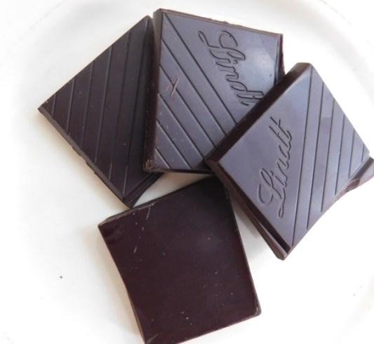 Dark chocolate squares. Photo by Jim Anderson.