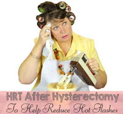 hrt after hysterectomy