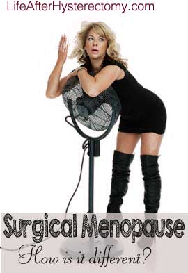 surgical menopause symptoms - hot flashes