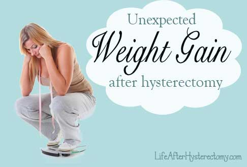 Weight gain after hysterectomy