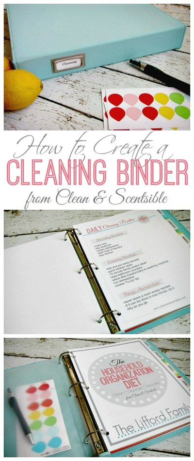 How to create a cleaning binder