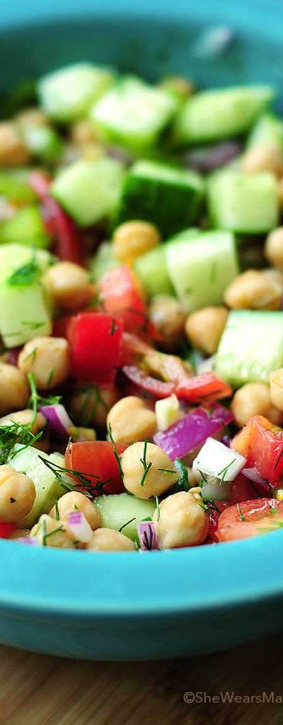 chick pea cucumber salad