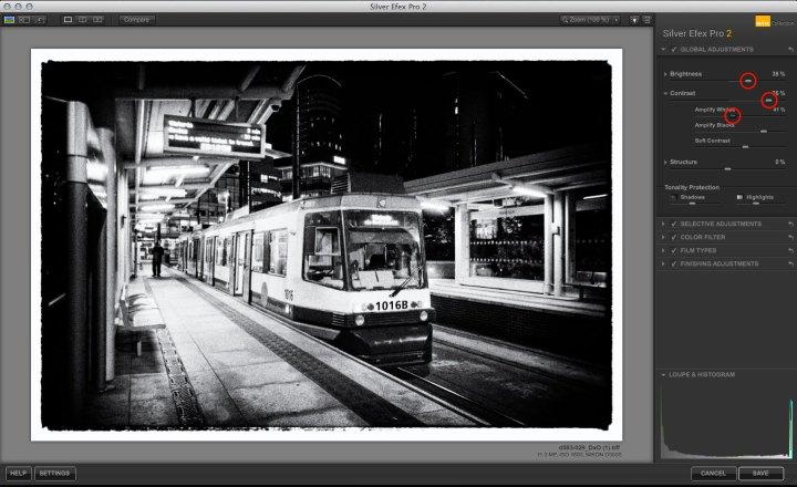 Silver Efex Pro Film Noir effect