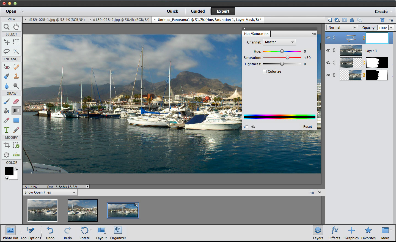 Elements Photomerge Panorama