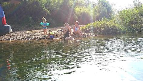 Snack & a dip in the river!