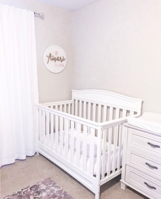 Crib in Girls Nursery