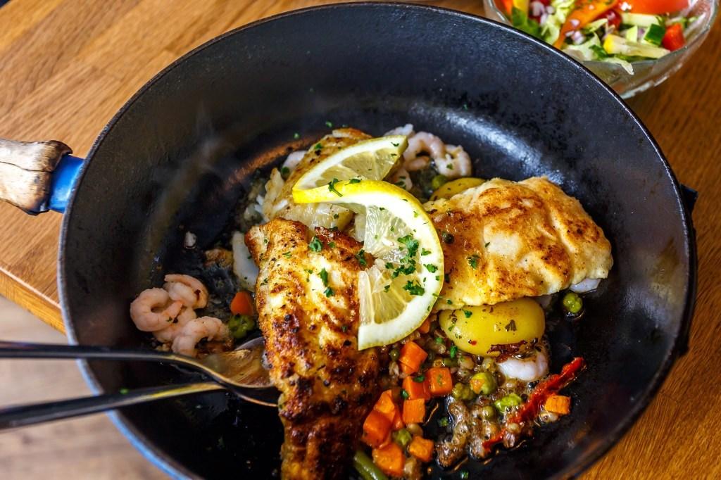 A fish dish at Edinborg restaurant