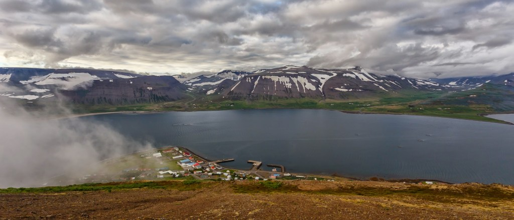 A view on Þingeyri from the mount Sandafell