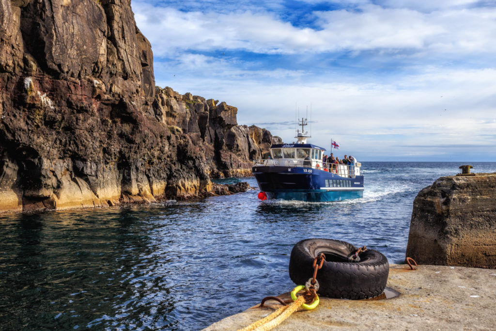 Ferry arrives to Mykines