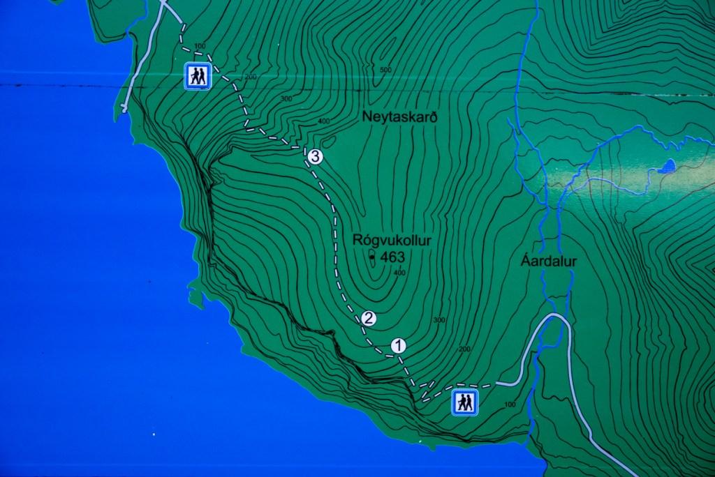 Information Board for Gásadalur hike