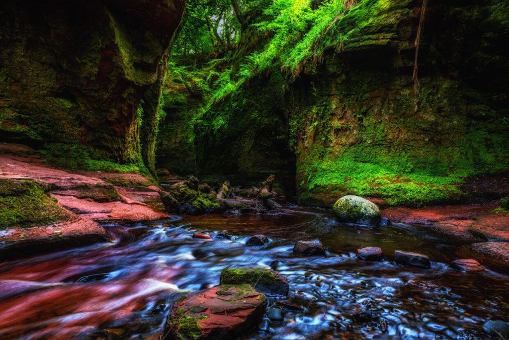 Carnock Burn river in Finnich Glen